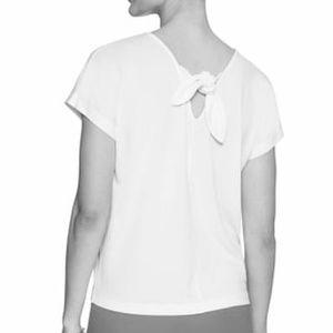 NWT Short Sleeve Crepe Tie-Back Top